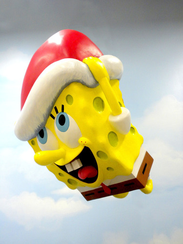 SpongeBob SquarePants Balloon Gets Holiday Makeover For 87th Annual Macy's Thanksgiving Day ...
