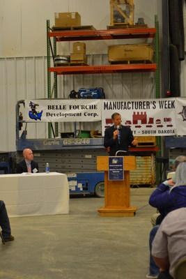 Senator John Thune speaking at Belle Fourche Industrial Rail Park Grand Opening October 6, 2016
