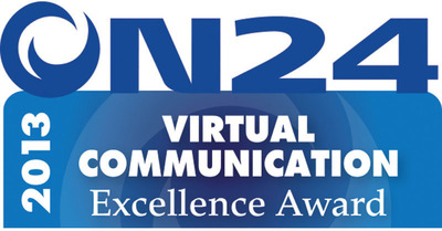 Seven Virtual Communication Excellence Awards are being given for 2013 by ON24 and the Content Marketing Institute.