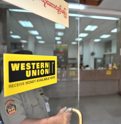 Citizens and residents of Myanmar can now receive money from any-where in the world through Western Union; as services went live nationwide this week (12 January 2013). (PRNewsFoto/Western Union) (PRNewsFoto/WESTERN UNION)