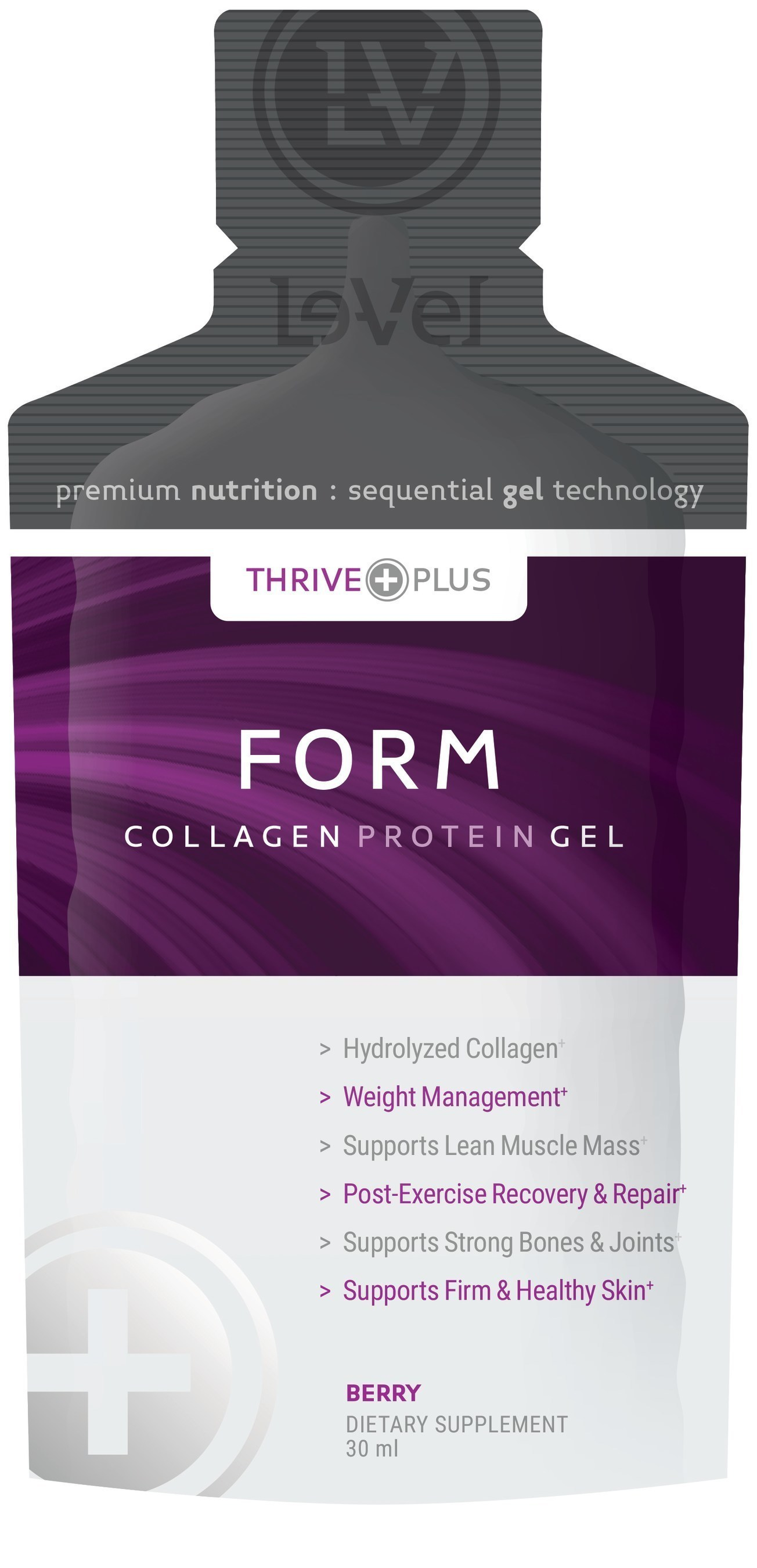 FORM: The world's first sequentially absorbed hydrolyzed collagen protein.