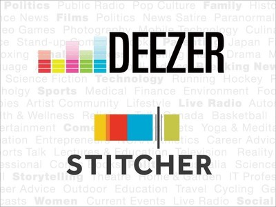 Deezer and Stitcher Logos