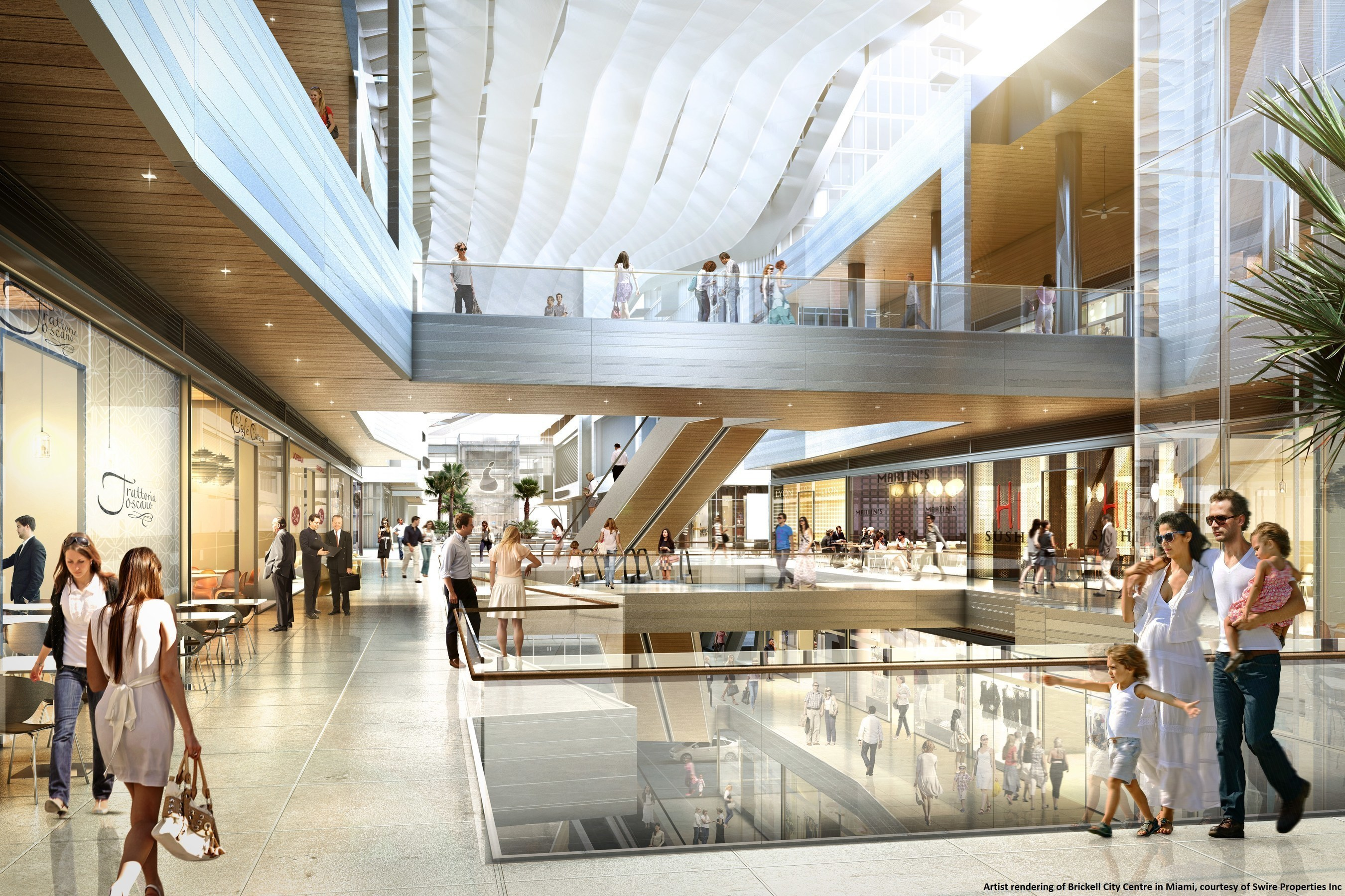 Brickell City Centre's 500,000 square-foot open-air shopping center, opening in fall 2016