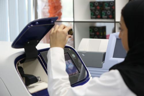 Saudi Human Genome Program scientist using Life Technologies' Ion Proton(TM), Riyadh, Saudi Arabia. ...