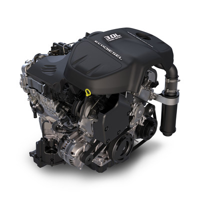 FCA US 3.0-liter EcoDiesel V-6 is lone clean diesel on annual Wards 10 Best Engines list.