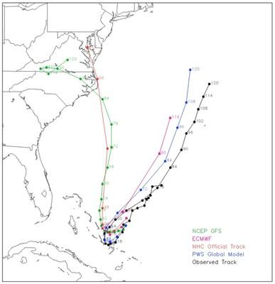 """Recent weather events, such as Hurricane Joaquin, highlight the superiority of Panasonic Weather Solutions' weather forecasting capabilities"" (PRNewsFoto/Panasonic Avionics Corporation)"