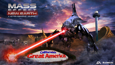 new mass effect 4d attraction developed by 3d live will transport amusement park guests to a