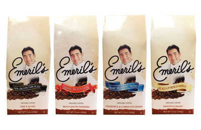 New York's White Coffee launches Emeril's(R) Signature Blend Coffees available in retail outlets nationwide or at (800) 221-0140.  (PRNewsFoto/White Coffee Corporation)