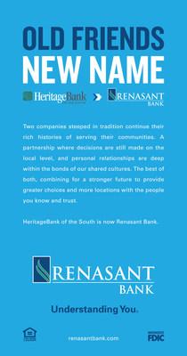 Renasant Completes Heritage Merger