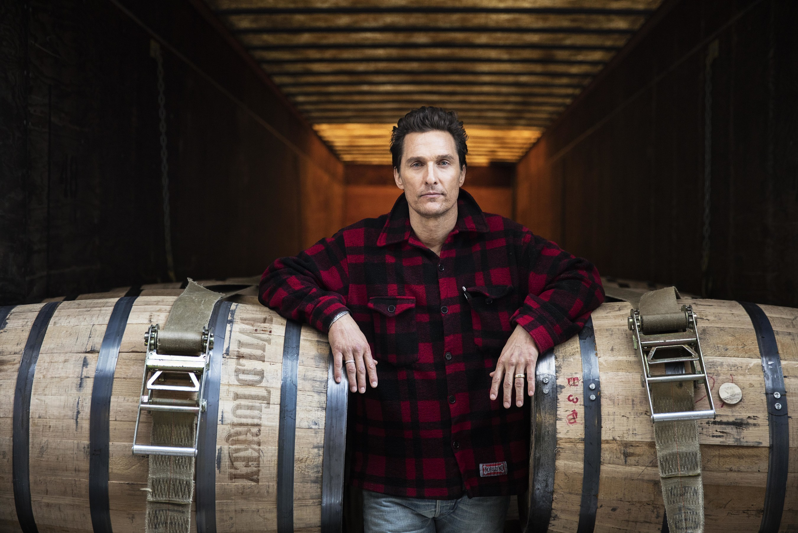 Matthew McConaughey - the new Creative Director for Wild Turkey - at the lauded bourbon distillery in Lawrenceburg, KY. Photo courtesy of Wild Turkey Bourbon.