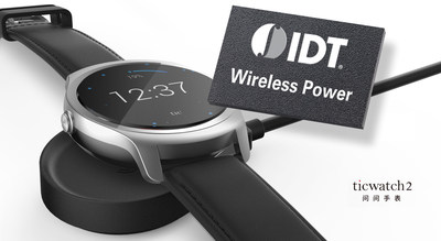 IDT Wireless Charging Technology Powers China's New Ticwatch