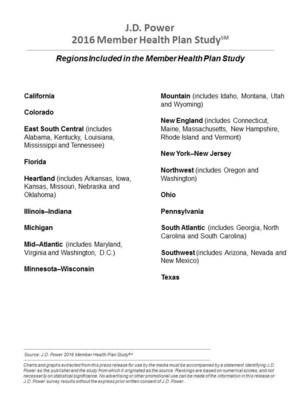 2016 Member Health Plan Regions