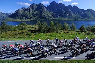 Arctic Race 2013, racing through the magnificent Lofoten Islands.