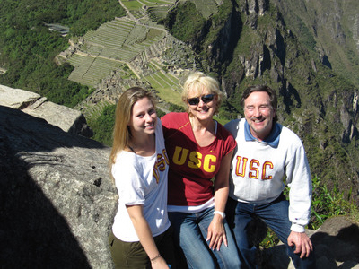 This Super FAM FAN entry features the Thomas Family who took their Trojan Spirit to the mountains of Peru. To see more stories like this, go to: http://creativeproductions.com/uscsuperfans/.  (PRNewsFoto/Creative Productions)