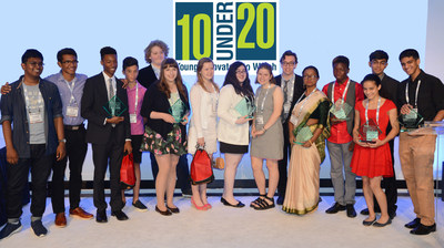 Winners of the 2nd annual 10 Under 20: Young Innovators to Watch awards, at CE Week New York.