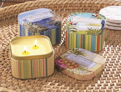 Yankee Candle's Margaritaville(R) Collection transports fans to paradise with four new tropical fragrances inspired by iconic Jimmy Buffett lyrics.
