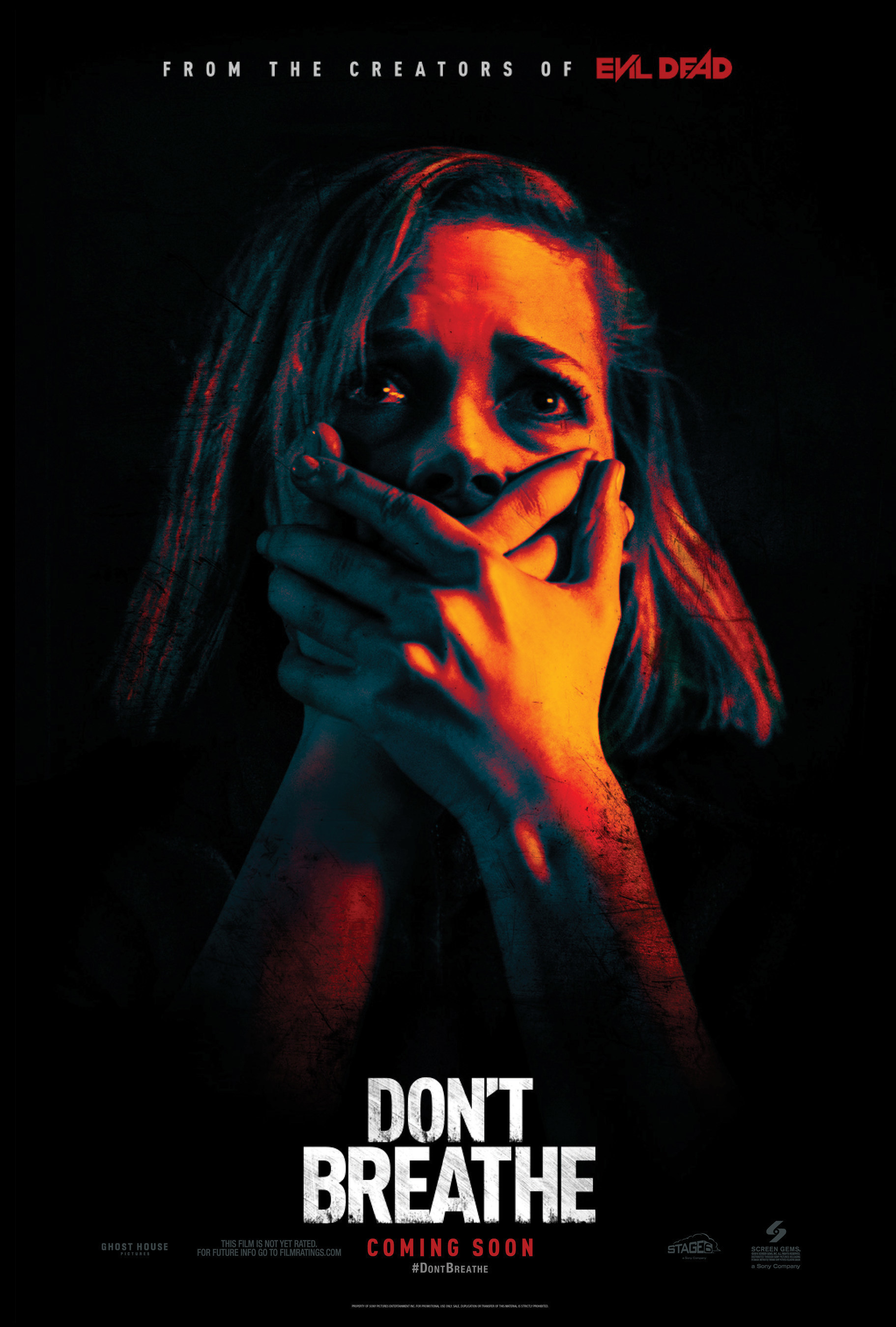 DON'T BREATHE official poster - opening in theaters nationwide August 26, 2016 from Screen Gems.