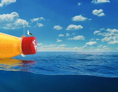 Norwegian soft drink Solo releases world's largest message in a bottle