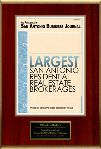JBGoodwin, Realtors Selected For 'Largest San Antonio Residential Real Estate Brokerages'