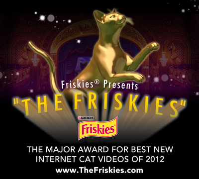 """Twelve finalists have been selected for """"The Friskies"""" cat video awards. One grand prize winner and four category winners will each take home a cash prize and a Friskies(R) Catuette for their winning films. Visit www.TheFriskies.com today to vote for your favorite video! The winners will be announced on November 14, 2012 during a LIVE webcast of """"The Friskies"""" on The Pet Collective.  (PRNewsFoto/Friskies)"""