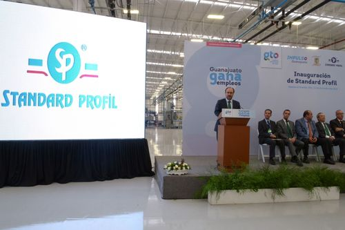 Turhan Semizer, CEO, during on his speech at the opening ceremony of Mexico Plant of Standard Profil. ...
