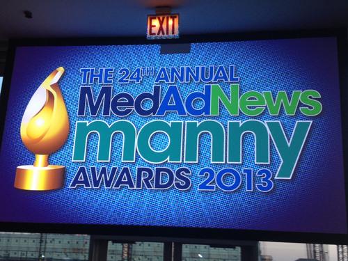 Med Ad News Manny Awards 2013 - Pier Sixty, New York, NY - April 25, 2013.  (PRNewsFoto/UBM Canon)