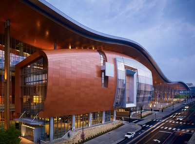 Since opening in May 2013, Music City Center has spurred $1 billion in new development in Nashville Tennessee's SoBro neighborhood. Atlanta-based tvsdesign was one of the architects for the $585 million convention center. (PRNewsFoto/tvsdesign) (PRNewsFoto/TVSDESIGN)