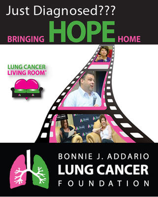 Bonnie J. Addario Lung Cancer Living Room, Bringing Hope Home.  (PRNewsFoto/Bonnie J. Addario Lung Cancer Foundation)