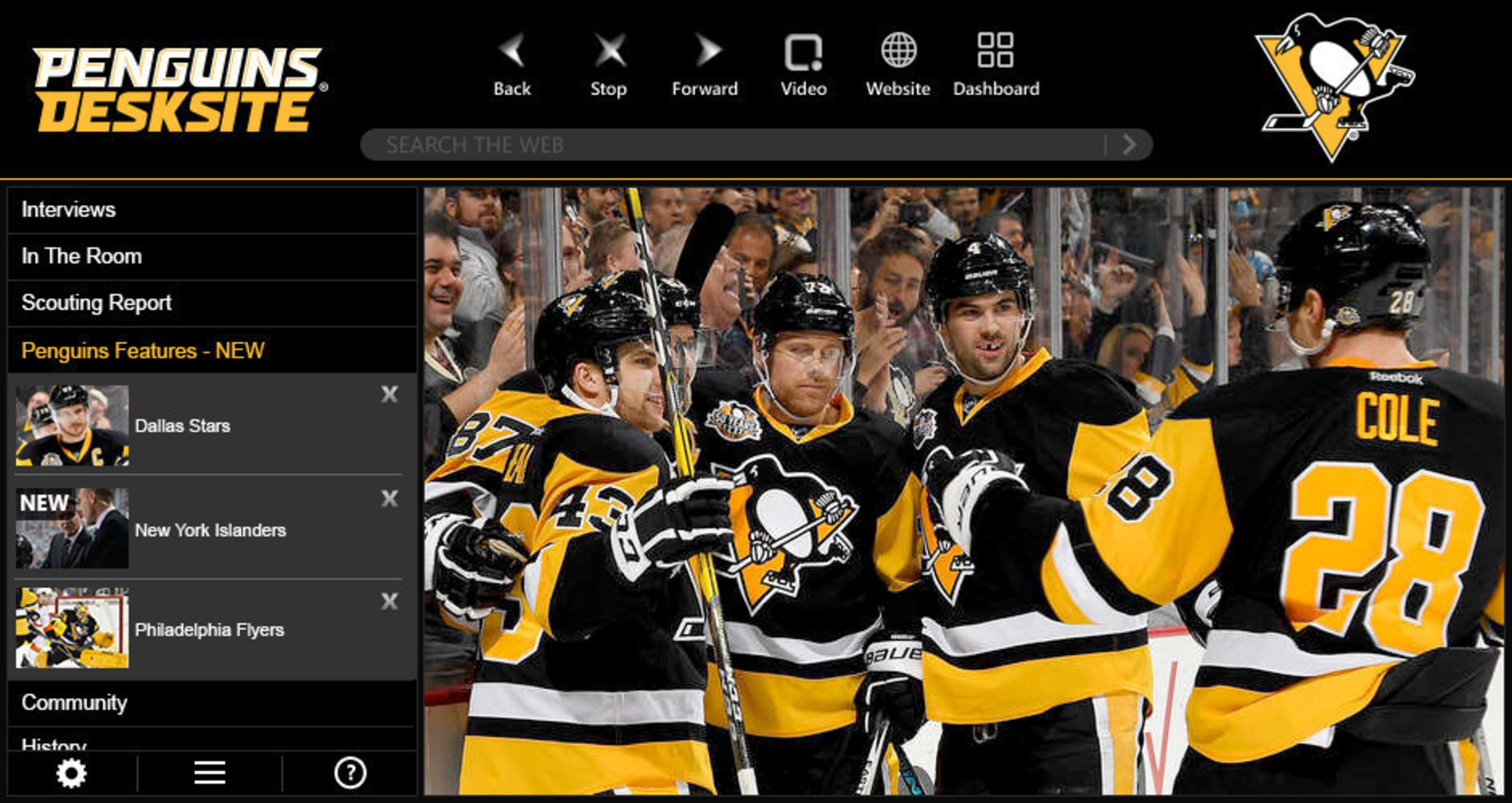 Pittsburgh Penguins launch new video app with Penguins DeskSite.