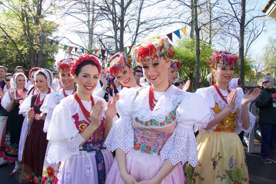 Among the featured shows at Silver Dollar City's World-Fest is Slask, a 35-member music and dance troupe from Poland. Now in its Grand Finale season, World-Fest runs through May 1 at the theme park in Branson, Missouri.