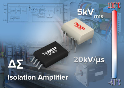 Toshiba's new optical coupled isolation amplifiers are suitable for use in industrial equipment applications, including inverters, servo amplifiers, robots and power supplies.