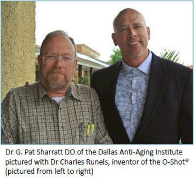 Dr. G. Pat Sharratt (left) and Dr. Charles Runels (PRNewsFoto/Dallas Anti-Aging Institute)