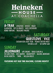 The Heineken House, returning to the Coachella Valley Music and Arts Festival, will feature a unique mash-up performances from a lineup of top artists.