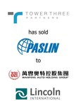 Lincoln International represents Tower Three Partners in the sale of The Paslin Company to Zhejiang Wanfeng Technology Development Co.