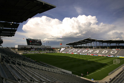 Denver's Dick's Sporting Goods Field hosts the 2014 Federation of International Lacrosse Men's World Championships. Photo credit Dick's Sporting Goods Field (PRNewsFoto/VISIT DENVER, The Convention...)