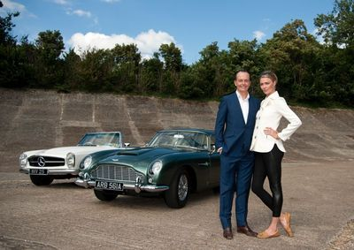 Quentin Willson and Jodie Kidd (PRNewsFoto/The Classic Car Show)