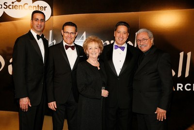 David DiCristofaro, Wells Fargo, David Siegel, Consulate General of Israel in Los Angeles, Lynda Oschin, Science Center President Jeffrey N. Rudolph and actor Edward James Olmos pose during the 17th Annual Discovery Ball at the California Science Center on Saturday, March 7, 2015, in Los Angeles, California.(Photo by Ryan Miller/Capture Imaging)
