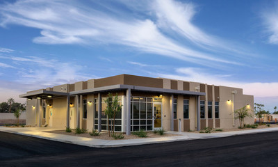 The new cancer facility in Sun City was assembled in 49 days.