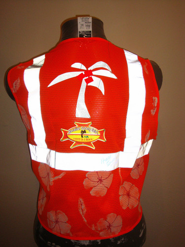 A premier fashion innovation that brings the beach to the job site, Hawaiian Safety Shirts are OSHA compliant (ANSI Class 2 and 3), highly visible, versatile for nearly every season and most of all fun!  (PRNewsFoto/Hawaiian Safety Shirts)