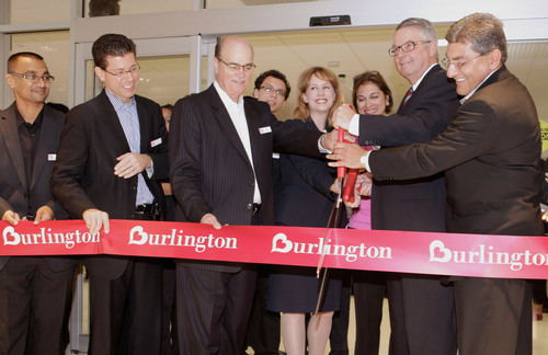 Burlington Coat Factory's President and CEO, Thomas Kingsbury and New York City Assistant Commissioner for ...