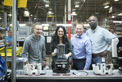 From left to right: Derek Ernst, global marketing director for KitchenAid small appliances; Tess Masters, author of