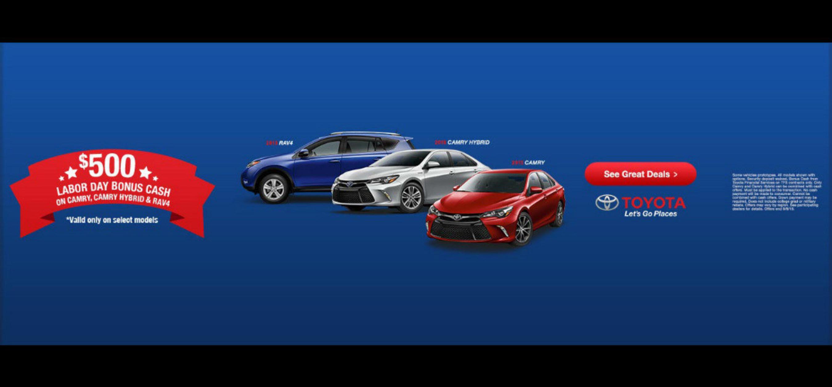 Toyota of Naperville offers Labor Day bonus