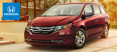 The 2015 Honda Odyssey continues to demonstrate its automaker's thoughtful approach to family travel for a new model year. (PRNewsFoto/Cale Yarborough Honda)