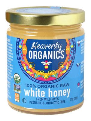 Heavenly Organics 100% Organic, Raw, Pesticide and Antibiotic Free White Honey from Wild Beehives