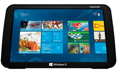 The Windows tablet with the Skycast IFE solution will meet the increasing demand from airlines to get more capability out of their supplied portables. (PRNewsFoto/Skycast Solutions) (PRNewsFoto/SKYCAST SOLUTIONS)