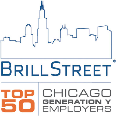 Brill Street Announces the 2013 Top 50 Employers for Gen Y Emerging Talent in Chicago.  (PRNewsFoto/Brill Street)