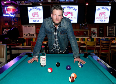 Recording artist Blake Shelton unveiled Smithworks Vodka on February 23, 2016 in West Hollywood, California. (Photo by Rich Polk/Getty Images for Smithworks Vodka)