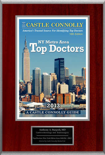 Dr. Anthony Starpoli, Gastroenterology, is named a Top Doctor: New York Metro Area.  (PRNewsFoto/American ...