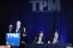 The Journal of Commerce TPM Asia conference will be hosted by China's Shenzhen Port through 2016, executives agreed this week. John Day, CEO of UBM Global Trade, and Ma Yong Zhi, Deputy Director General of the Transport Commission of Shenzen Municipality, China, signed a new, five-year agreement for TPM Asia on March 5 at The Journal of Commerce's TPM Long Beach conference in California. Greg March, Asia Director, The Journal of Commerce (left) and Peter Tirschwell, Senior Vice President of Strategy, UBM Global Trade, (at podium) participated in the announcement.  (PRNewsFoto/UBM Global Trade)