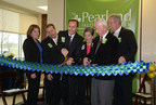 """HCA Gulf Coast Division President, Maura Walsh; Pearland Medical Center Board of Trustees Chairman, Kevin Fuller; Pearland Medical Center CEO, Matt Dixon; Manvel Mayor, Delores Martin; Pearland Mayor, Tom Reid; and Reverend Brian Gigee """"Cut the Ribbon"""" on Friday, January 9th for the new $71 million Pearland Medical Center."""
